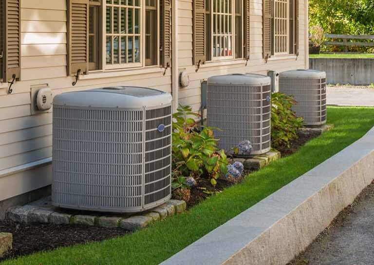 HVAC units outside of townhome community
